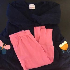 Hanna Andersson tunic and leggings 12-18month